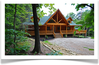 large lodge with full view and green roof